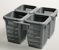 BASKET WITH 4 COMPARTMENTS FOR CUTLERY